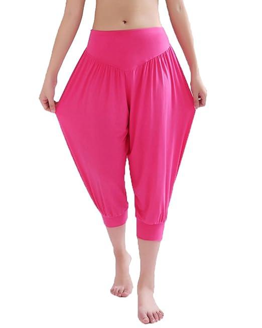 ShiFan Pantalones Cortos De Yoga Pretina Elástico Bombachos Fitness para Mujer