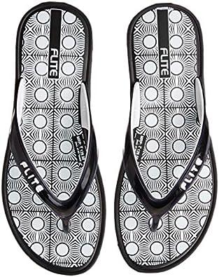 FLITE Women's BKWH Flip-Flops - 3 UK/India (35.5 EU)(FL0231L) Black White