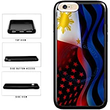 BleuReign(TM) Philippines And USA Mixed Flag TPU RUBBER Phone Case Back Cover For Apple iPhone 8 Plus and iPhone 7 Plus