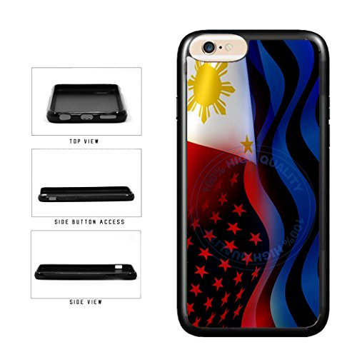 BleuReign(TM) Philippines And USA Mixed Flag TPU RUBBER Phone Case Back Cover For Apple iPhone 8 and iPhone 7