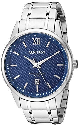 (Armitron Men's 20/5388NVSV Date Function Silver-Tone Bracelet Watch)