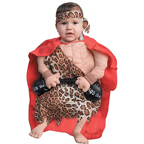 Funny Newborn Baby Muscle Man Costume (0-6