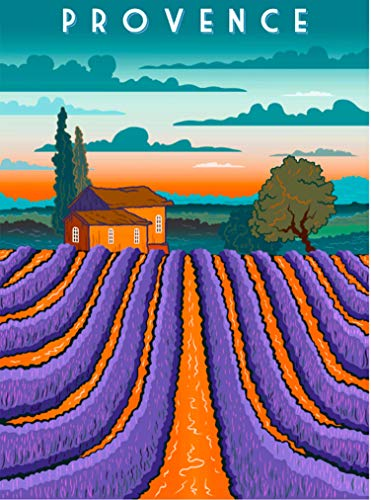 (A SLICE IN TIME Provence France Lavender Fields Europe Retro Travel Home Collectible Wall Decor Advertisement Art Deco Poster Print. 10 x 13.5)