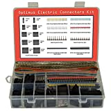 Dupont Connector Kit - 1004 pcs Crimp Connector Kit with Dupont Wire Connectors and Ribbon Cable - A Set of Male and Female 2.54 mm Dupont Connectors and Crimp Pins from Optimus Electric