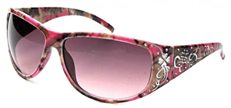 f54b67d5158c Amazon.com  VertX Womens Hot Pink Camouflage Sunglasses Fishing Hunting – Hot  Pink Camo Frame – Amber Lens  Clothing