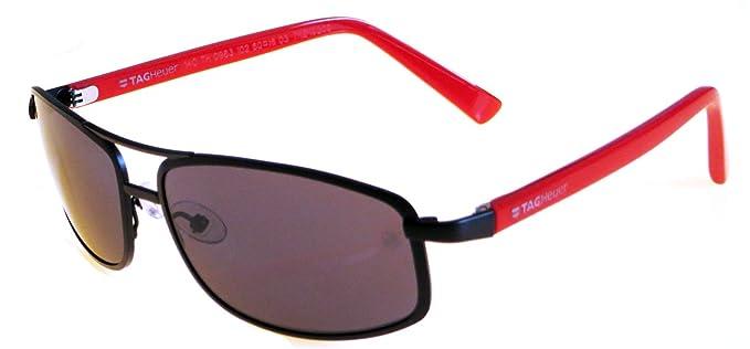 Amazon.com: Tag Heuer Senna 0983 Gafas de sol 102 Negro/Red ...