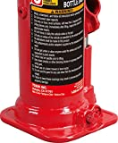 BIG RED T90603B Torin Hydraulic Welded Bottle Jack, 6 Ton (12,000 lb) Capacity
