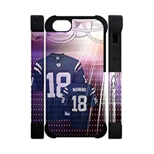 Hoomin Popular Indianapolis Colts Halmet iPhone 5 Cell Phone Cases Cover Popular Gifts(Dual protective)