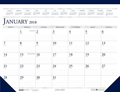House of Doolittle 2018 Monthly Desk Pad Calendar - Classic - 22 x 17 Inches - January - December (HOD150-18)