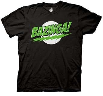 The Big Bang Theory Bazinga! Men's T-shirt (Small, Black Green Lantern)