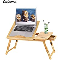 Cozihoma Portable Adjustable Laptop Desk Table Stand with Drawer