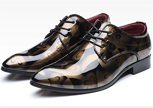 grandi 37 Scarpe dimensioni punta da 49 in tendenza tendenza uomo di Gold da uomo a moda di pelle scarpe XIE qYTxwdpT