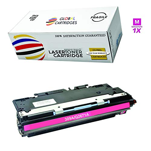 Global Cartridges Compatible Magenta Toner Cartridge for HP 308A / HP 309A / HP 3500 Series / Q2673A (Magenta)