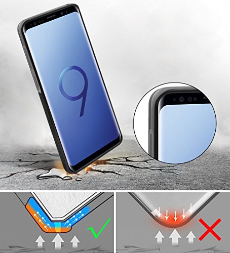 AMOVO Case for Galaxy S9 Plus [2 in 1], Samsung Galaxy S9 Plus Wallet Case [Detachable Wallet Folio] [Premium Vegan Leather] Samsung S9 Plus Flip Case Cover with Gift Box Package (Black, S9+) by Amovo (Image #5)