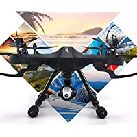Owill JJRC H26WH RC Quadcopter 2.4G 4CH 6-Axis Gyro Headless Mode With 3.0M WIFI Camera/Long Control Distance (Black)