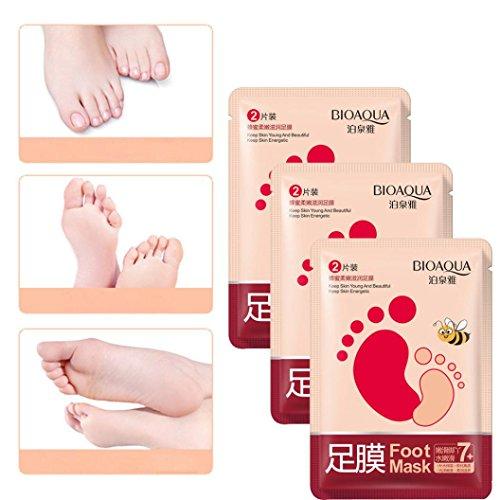 Kemilove Exfoliating Peel Off Foot Mask Baby Soft Feet Remove Callus Hard Dead Skin (3 Pack)