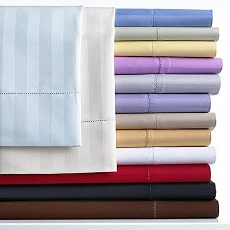 Charter Club Damask Stripe 500T Dove Gray Queen Sheet Set