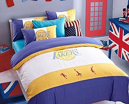 100 algodón para niños lakers team balón de baloncesto de cama ...