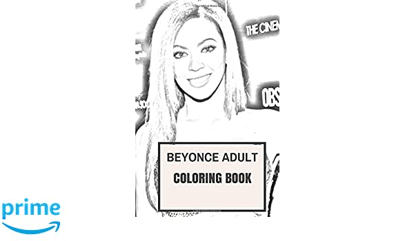 beyonce adult coloring book legendary female rapper and queen of pop destinys child prodigy inspired adult coloring book coloring book for adults jenna - Beyonce Coloring Book