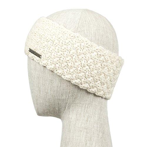 SICILIA Handmade Knitted 100% Baby Alpaca Headband Ear Warmer for Women (Ivory)