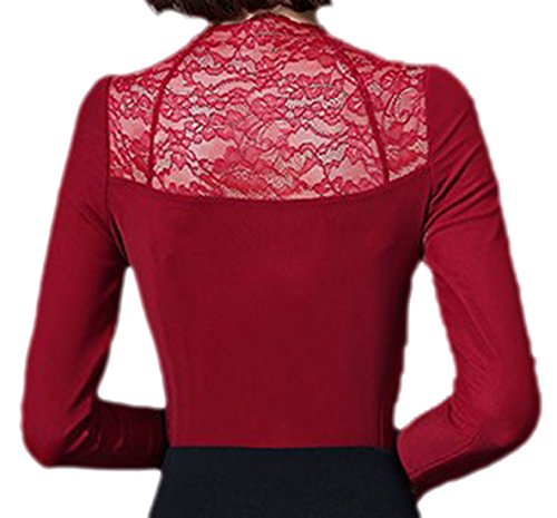 erdbeerloft - Camiseta de manga larga - Opaco - para mujer Rojo