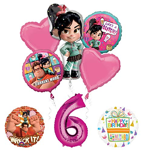 Wreck It Ralph 6th Birthday Party Supplies Balloon Bouquet Decorations -