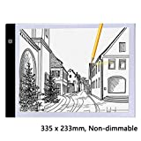 Onbio A4 Ultra-Thin Portable LED Light Box Tracer USB Power Cable LED Artcraft Tracing Light Box Light Pad for Artists Drawing Sketching Animation (335 x 233mm, Non-dimmable)