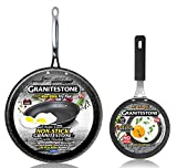 GRANITESTONE 2687 11' Frying Pan with 5.5†Egg Pan, Non-stick, No-warp, Mineral-enforced, PFOA-Free, Dishwasher-safe As Seen On TV