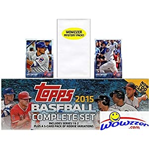 2015 Topps Baseball EXCLUSIVE MASSIVE 705 Card Retail Factory Set with TWO(2) KRIS BRYANT ROOKIES Plus Bonus Wowzzer Mystery Pack with AUTOGRAPH or MEMORABILIA Card! Includes all Cards from Series 1&2