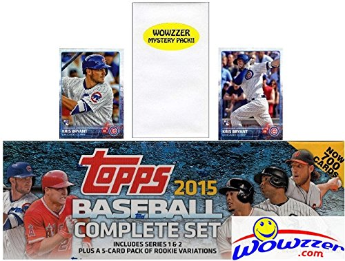 EXCLUSIVE MASSIVE 705 Card Retail Factory Set with TWO(2) KRIS BRYANT ROOKIES Plus Bonus Wowzzer Mystery Pack with AUTOGRAPH or MEMORABILIA Card! Includes all Cards from Series 1&2 (Bryant Set)