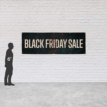 CGSignLab Black Friday Sale 12x4 Ghost Aged Rust Heavy-Duty Outdoor Vinyl Banner