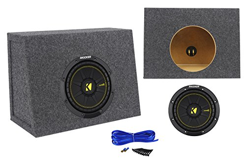 12' 400w Subwoofer (Kicker 44CWCS84 CompC 8 400W 4-Ohm SVC Car Audio Subwoofer+Sealed Sub Enclosure)