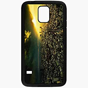 Unique Design Fashion Protective Back Cover For Samsung Galaxy S5 Case Night View From Above Light Black