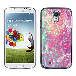 Design for Girls Plastic Cover Case FOR Samsung Galaxy S4 Glitter Teal Pink Purple Sparkly Snow OBBA