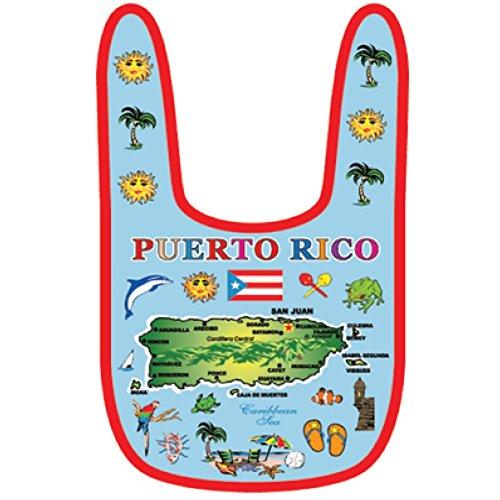Baby Bib Puerto Rico Gift Souvenir Cute Soft Baby Bib 100% Cotton