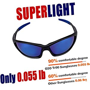O2O Top [Polarized] Sports Sunglasses [Tr90] [Superlight Weight] Frame [for the Most Comfortable and Fit all Day Long] for Men Women Teens Youth Driving Baseball Cycling Fishing Golf Running