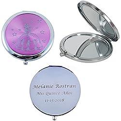 Mis Quince Años (12 PCS) Sweet 15, Sweet Sixteen, Quinceañera, Mis 15 Años Compact Mirror (Pink)