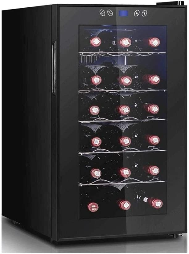 Atten Wine Cooler Freestanding Wine Cabinet Refrigerator Home Red/White Grape Beer Champagne Chiller with Digital Temperature Display Glass Door 18 Bottles
