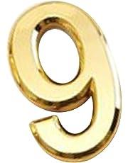 Moderne Argent/Or 3D Numéro de Maison 0-9 Chiffre Auto-adhésif Pr Maison Hôtel Plaque d'immatriculation-5X3X0.6cm
