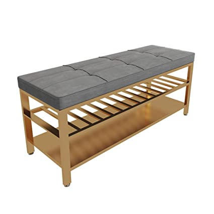 Amazon.com: QIQI-LIFE Upholstered Shoe Bench, Bedroom Bench ...