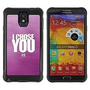 Suave TPU GEL Carcasa Funda Silicona Blando Estuche Caso de protección (para) Samsung Note 3 / CECELL Phone case / / BIBLE I Chose You - John 15:16 /