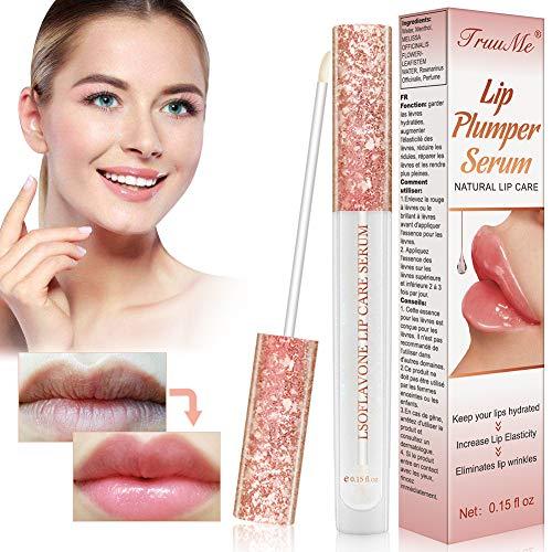 Lip Plumper, Lip Enhancer, Natural Lip Care Serum, Lip Gloss for Increase Lip Elasticity, Reduce Fine Lines, Lip Hydrating, Lip Plumper, Fuller & Hydrated Sexy Lips