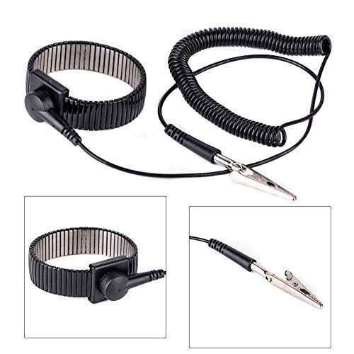 Anti-Static ESD Adjustable Strap Antistatic Grounding Bracelet Wrist Band Black