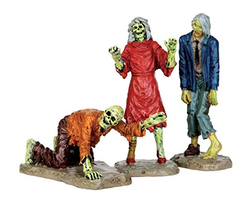 Lemax Spooky Town Collection Walking Zombies, Set of 3 #42219 -