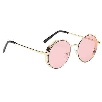 Homyl Gafas de Sol Polarizadas Lentes de Espejo Redondas ...