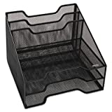 Combination Sorter, Five Sections, Mesh, 12 1/2 x 11 1/2 x 9 1/2, Black, Sold as 1 Each