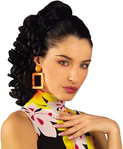 BLACK 60s 90s RACHEL HAIR EXTENSION Accessory for 60s Rock n Roll Fancy Dress ()
