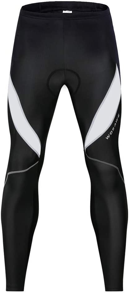 Men/'s Cycling Tights Slicone Padded Pants Bicycle Long Trousers Bike Legging
