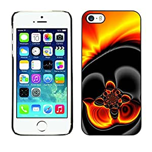 Paccase / SLIM PC / Aliminium Casa Carcasa Funda Case Cover para - Gold Hot Lava Fire Dark - Apple Iphone 5 / 5S