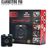 ClandestinePro - HD Informer CAM, Mini Hidden - HD, Small, Portable Spy Cam - Nanny Cam w/Motion Detection & Night Vision – 1080P Wireless Mini Security Camera INCLUDES 32GB micro SD Card & Adapter
